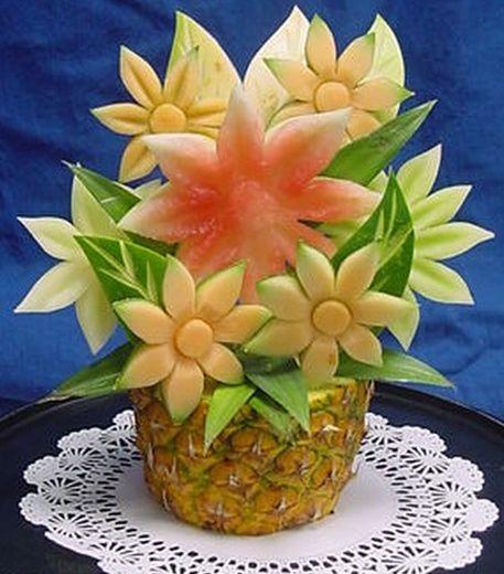 The Pineapple Vase Flower Sculpture