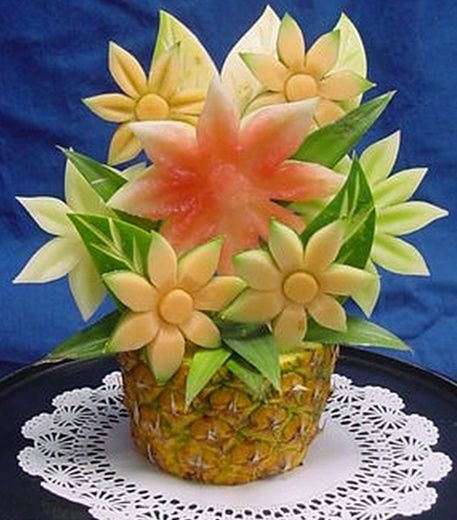 The Pineapple Vase Flower Sculpture
