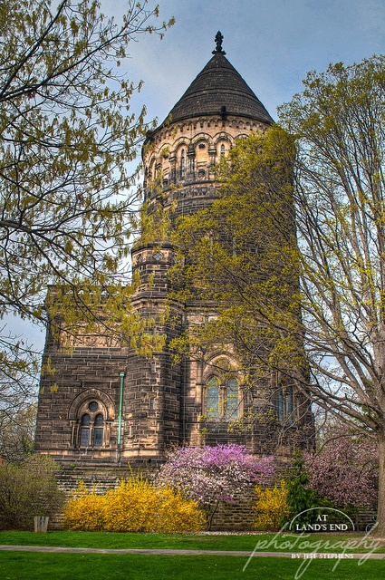 Garfield Monument in Spring, Lakeview Cemetary in Cleveland, OH