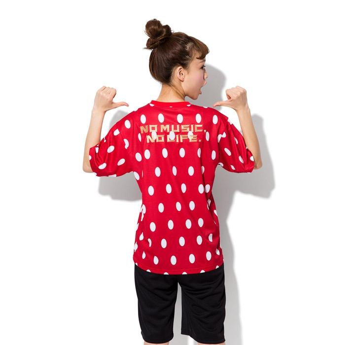 【TOWER RECORDS x arena x 風とロック TEE (RED)】   風とロックのイチゴロゴをイメージして全面にプリントしたインパクト大のTシャツ。