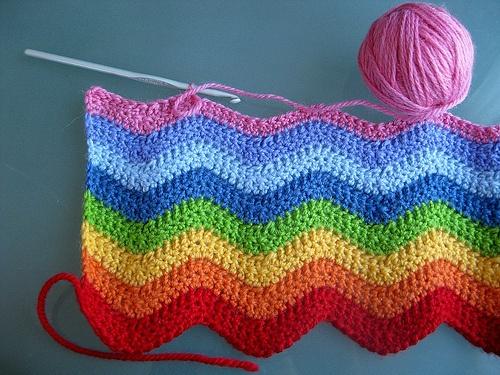 Rainbow Ripple crochet... can't find tutorial, but pretty