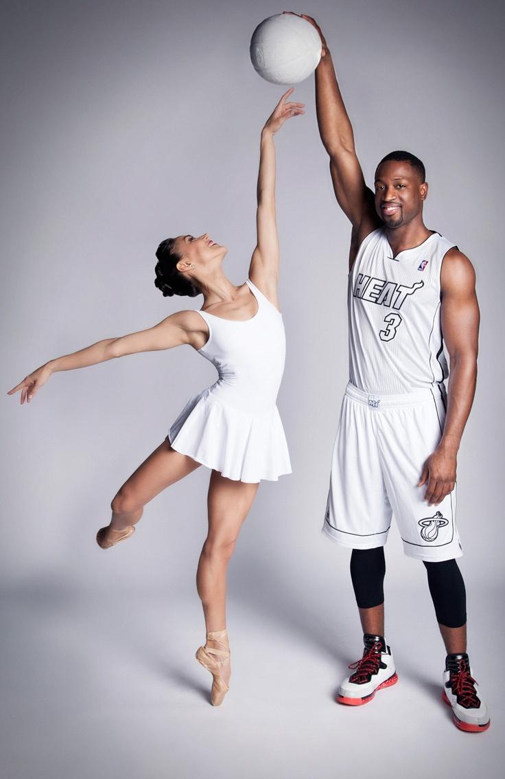Miami City Ballet's Patricia Delgado and Miami Heat's Dwyane Wade