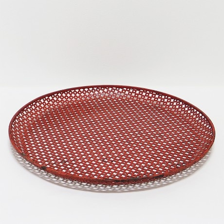 Mathieu Matégot; Perforated and Enameled Metal Serving Tray, 1950s.