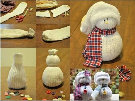 Cute - I would use rice or beans in the very bottom and then a round stryrofoam ball and a smaller one for the head.  Stick pin the hat to the ball and then attach a hook.