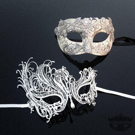 Couples Masquerade Mask Masquerade Masks Masquerade by 4everstore