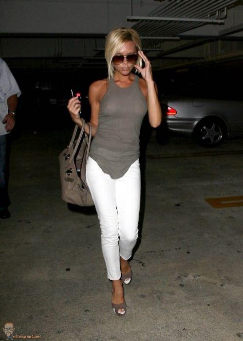 White pants fashion.