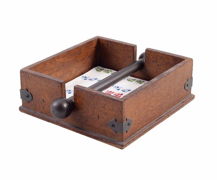 Деревянные кухни и гостиной Tissue Box, салфетки держатель с металлическим прутом, Старинные украшения дома