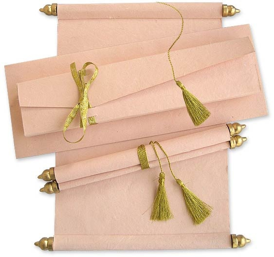 Handmade Scroll Invitation in Pouch & Envelope by ColorPrintOutlet, $3.80