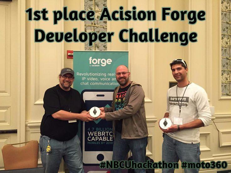 1st place Acision Forge Developer Challenge / #NBCUhackathon #moto360