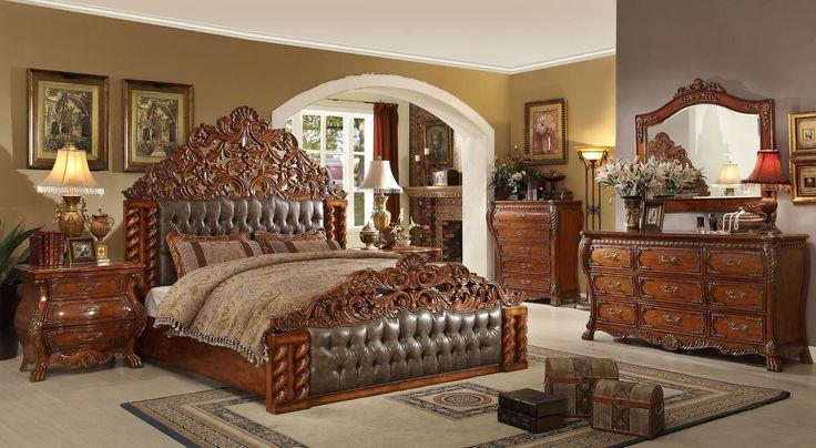 Dormitorio fresco de estilo victoriano Establece Inicio Diseño Gran Moderno
