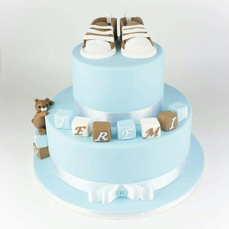 Pojan ristiäiskakku, boy christening cake