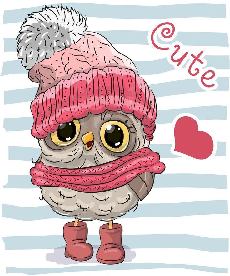 Скрапбукинг, рукоделие, Картинки с милыми животными, сова