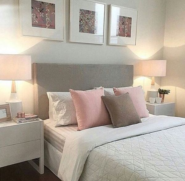 Would love my room to look this simple! However, I would switch the pink with sky blue