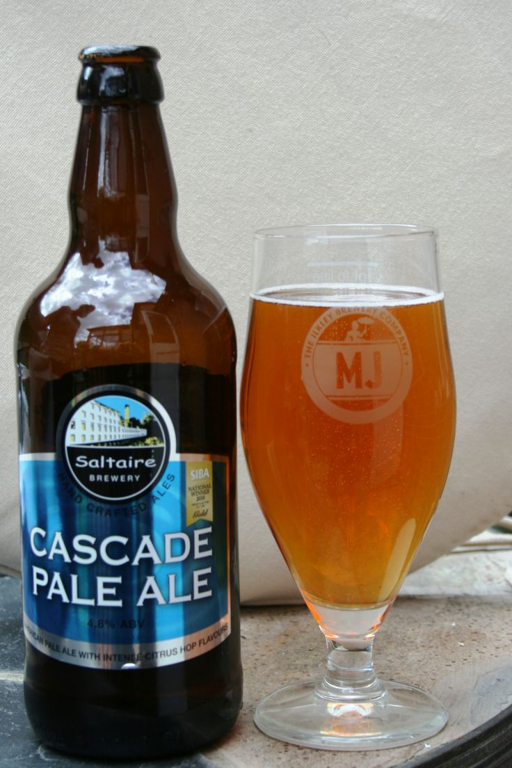 Saltaire Cascade Pale Ale -- Clear amber with small off-white head. Aroma is malt, fruit, caramel, hop and a little citrus. Flavour is malt, caramel, hop, little sweet, little dry, biscuit and bitter.