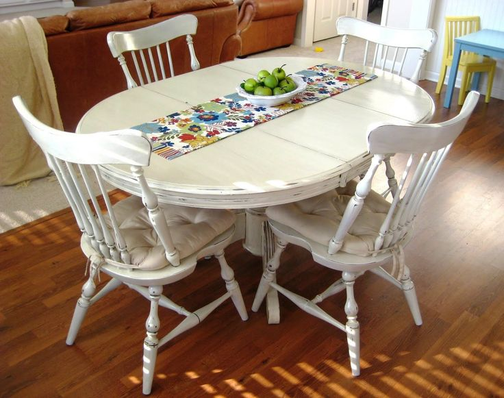 Painted kitchen table is the easy way to improve the old kitchen table for  a dream look  Choose the right color for painting the kitchen tables 139 best Painted Dining Set images on Pinterest   Dining set  . Hand Painted Dining Table And Chairs. Home Design Ideas