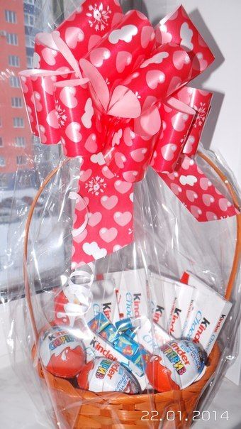 kinder chocolate joy kinder bar kinder surprise egg cake tower candy gift idea basket box valentines day birthday mother ay wedding present romantic romance love heart bow red bouquet flowers roses bow
