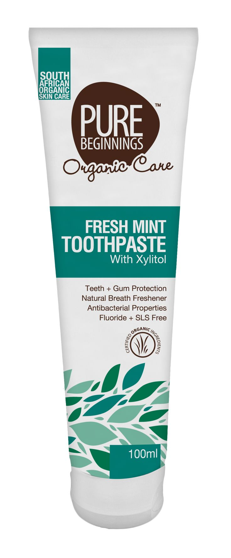 100ml FRESH MINT TOOTHPASTE -  with Xylitol (100ml)   **This fluoride free mint toothpaste contains xylitol, which has been shown to effectively inhibit the growth of bacteria that cause tooth decay
