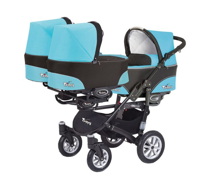 Details About Triple Buggy Trippy 3in1 Triplets Baby Pram