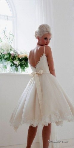 111 elegant tea length wedding dresses vintage (62)