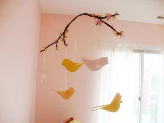 passarinho-de-papel: Mobile Ideas, Baby Mobiles, Decoration, Kid Ideas, Nursery Ideas, Diy, Craft Ideas, Crafts
