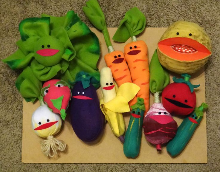 Grocery Bag of Muppet Fruit and Vegetables Costume by kieshar