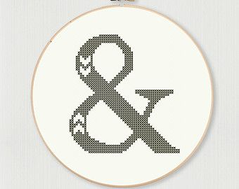 Cross stitch letter O pattern with chevron by LittleHouseBliss