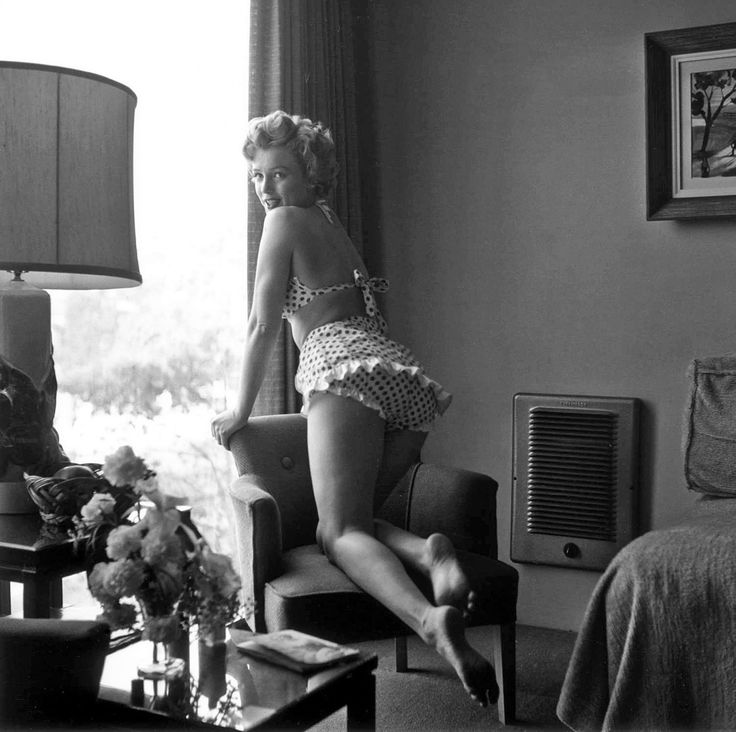 Marilyn at the Beverly Carlton Hotel during the filming of Love Nest, 1951.