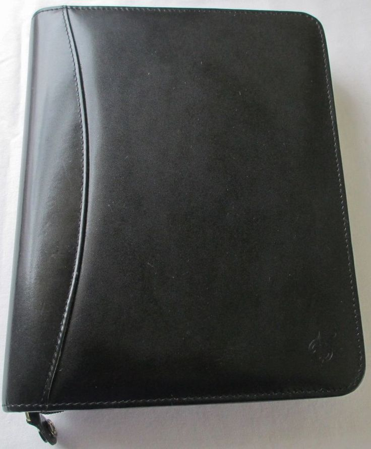 #FranklinCovey Aniline Black Leather #Planner CL 12215 7 Ring #Organizer #Compass