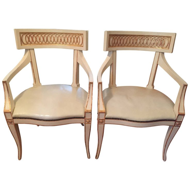 Pair Of Neoclassical Style Armchairs By Baker Furniture Company