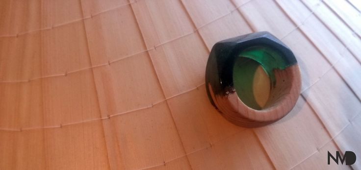 Epoxy Jewelry, Simple ring. Wood and epoxy. Beginnings.