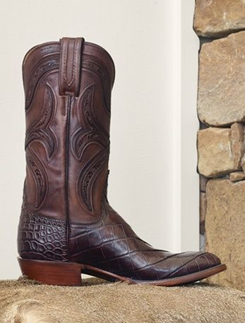 Handmade Lucchese boots available online including cowboy and Western boots and traditional footwear
