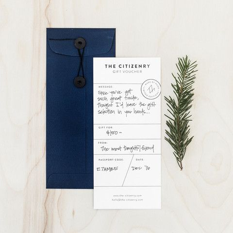 The Citizenry Gift Voucher