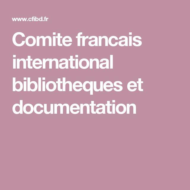 Comite francais international bibliotheques et documentation