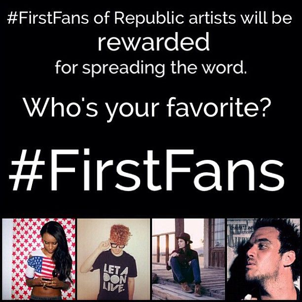 What does the firstfans hashtag mean exactly firstfans