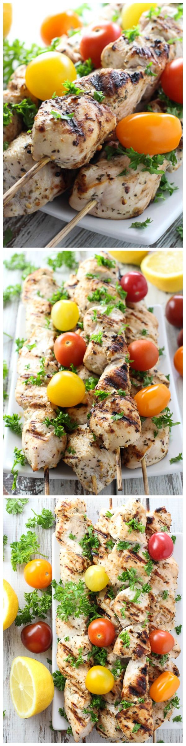 These Yogurt Marinated Chicken Kebabs can be cooked on a grill as well as in the oven.