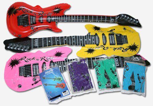 12 aufblasbare Gitarren 55cm - Luftgitarren: Amazon.de: Spielzeug