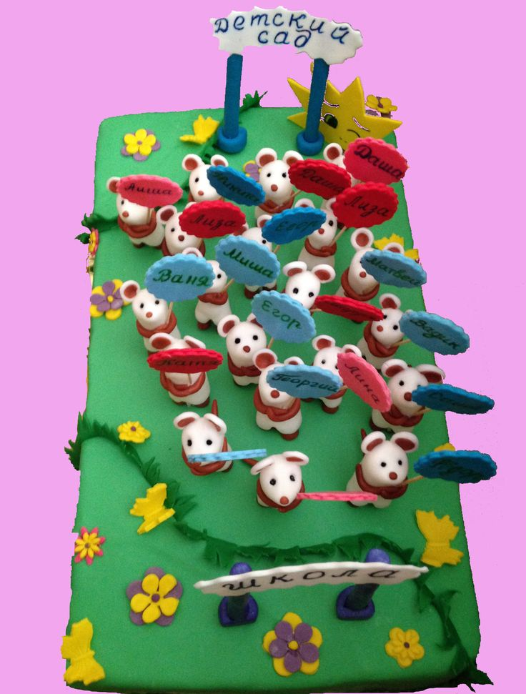Торт на выпускной детский сад