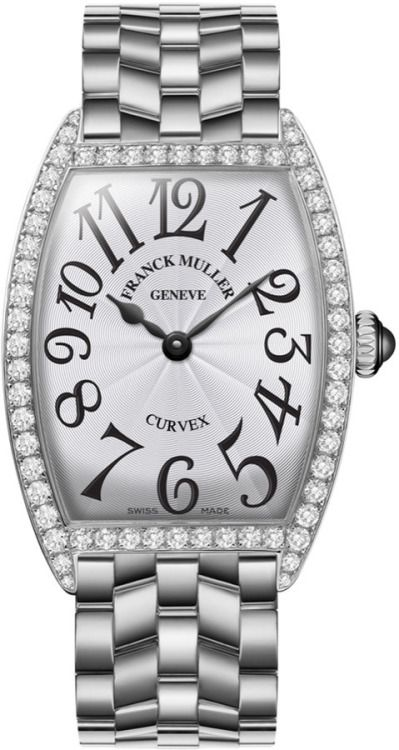 womens-clothing-online:  Franck Muller Ladies Curvex Stainless Steel Diamond Watch by Franck Muller.  Franck Muller