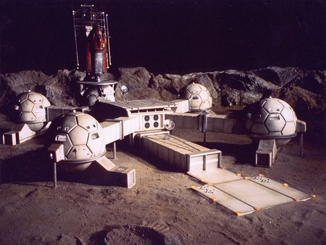Awesome, retro moon base. Looks like it could be from ...