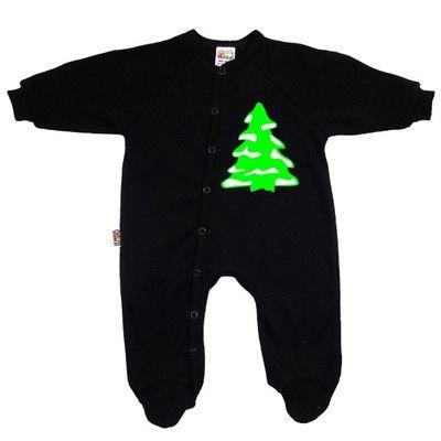 Pyjama bébé Noël : SAPIN AVEC DU NEIGE