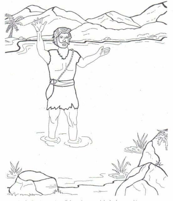 john the baptist coloring pages | Sunday School | Pinterest