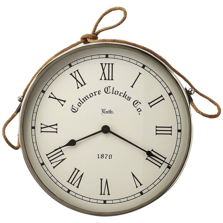 Butler Hors D'Oeuvres Rockport Nickel Finish Wall Clock