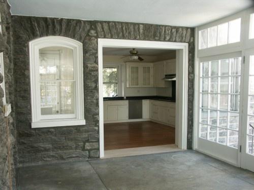Perhaps In Stead Of Opening The Entire Wall Make Window An Open Shelf?  Breezeway /