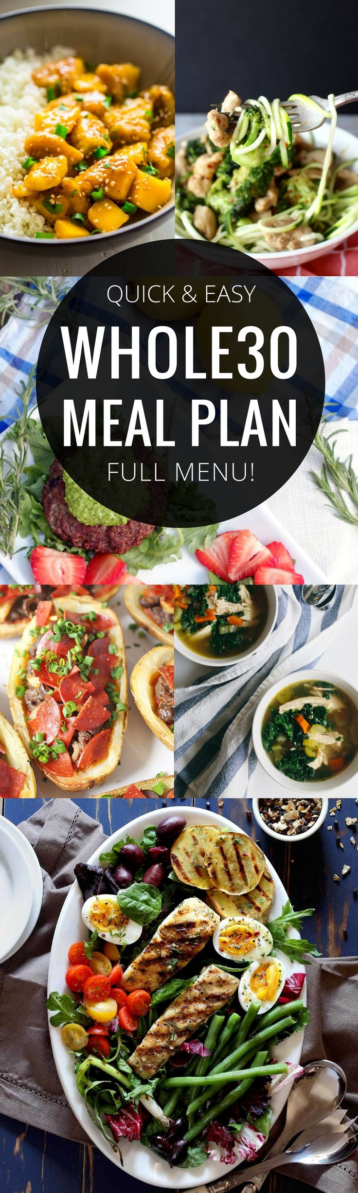 A Whole30 meal plan that's quick and healthy! Whole30 recipes just for you. Best Trader Joe's shopping list. Whole30 meal planning. Whole30 meal prep. Healthy paleo meals. Healthy Whole30 recipes. Easy Whole30 recipes. via @themovementmenu
