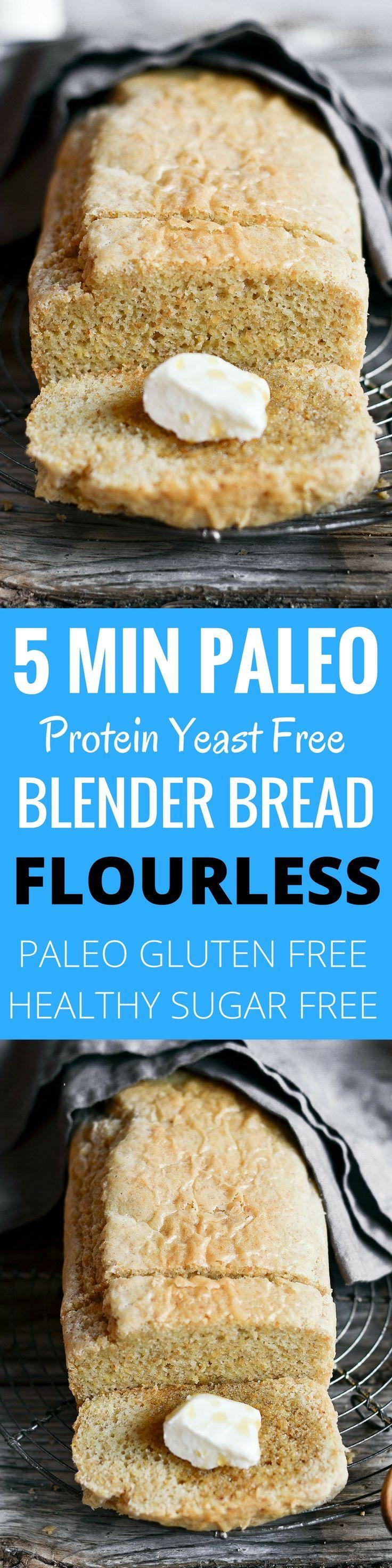 Mind blowing 5 min PALEO blender bread! Soft, NO yeast! Tastes like real homemade bread. Best gluten free bread recipe.