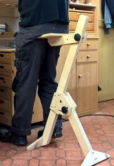as a standing aid #woodworking as a standing aid