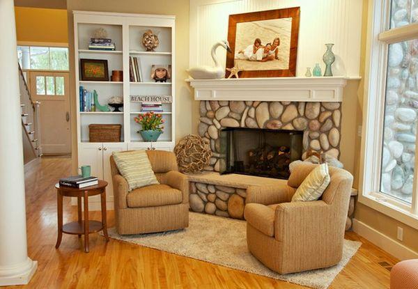 best 25 river rock fireplaces ideas on pinterest river
