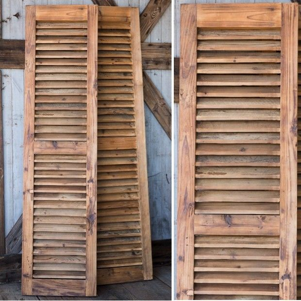 Reclaimed wood shutters set of 2 on the side the o for Barnwood shutters