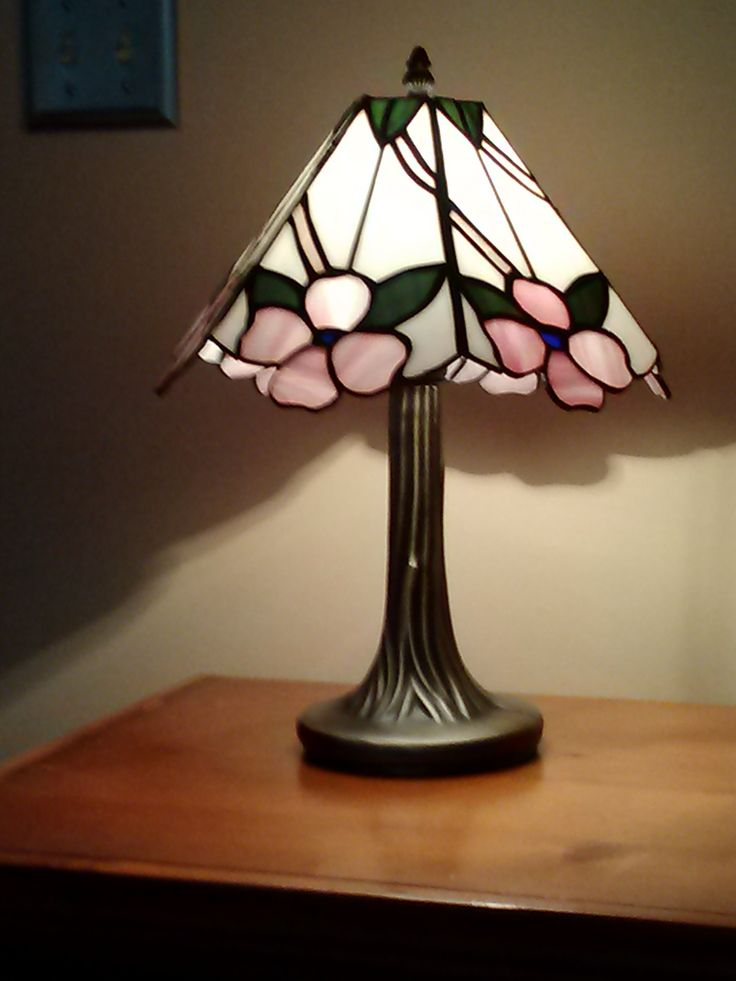 Stained glass lamp peacock see more dogwood lamp turned on