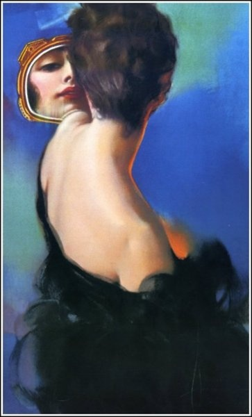 Woman with Mirror  Rolf Armstrong